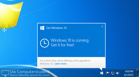 Windows 10: nog heel even gratis!
